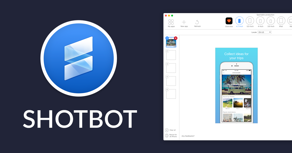 ShotBot - The only Appstore screenshot designer developers need